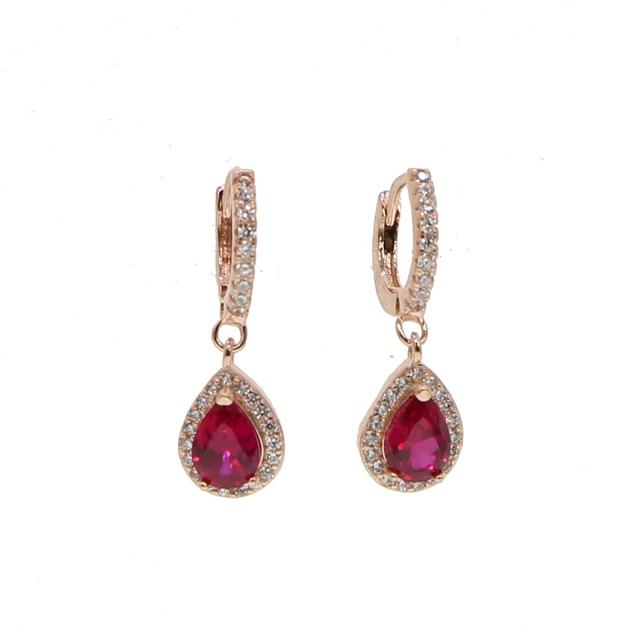 Купить женские висячие серьги цвета розового золота элегантные летние
