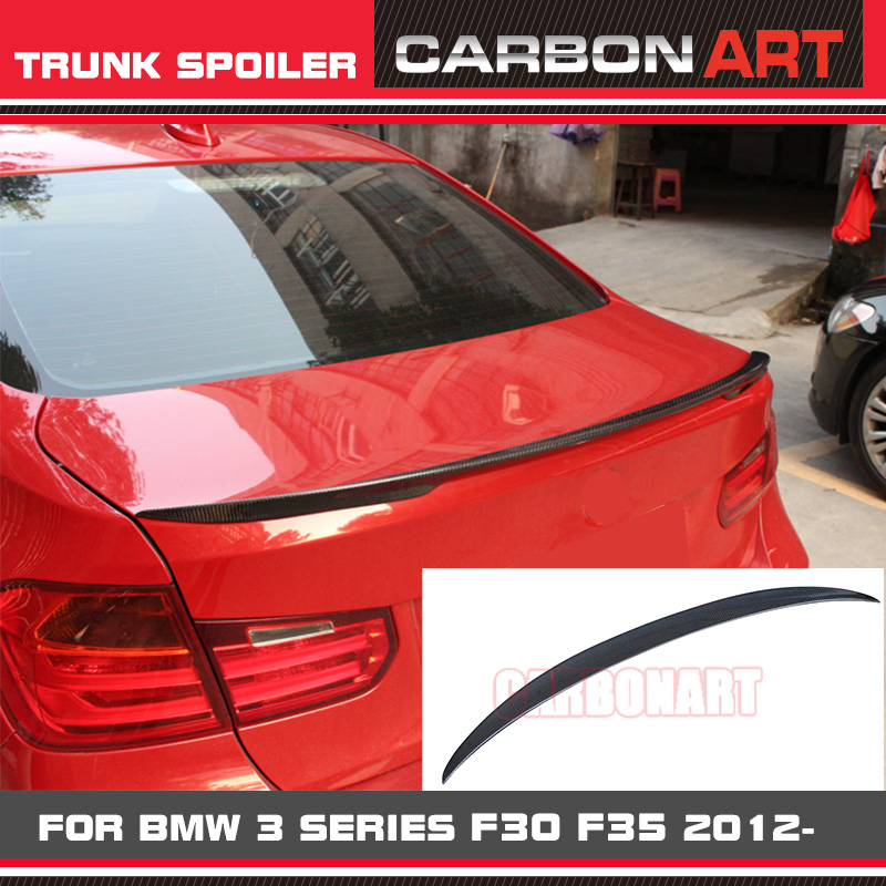 For Bmw 3 Series F30 Carbon Fiber Trunk Rear Spoiler Wing M Performance Style 316i 318i 320i 328i 335i F80 M3 2012-2016 m performance style carbon fiber rear trunk wing spoiler for bmw 3 series f30 2012 2018 318i 320i 328i 330i 335i