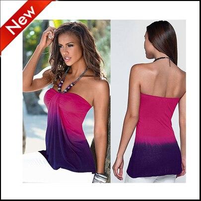 2016 nova safra sexy strapless t shirt mulheres imprimir sem encosto colete top camisetas de tirantes sexys de mujer sexy club party camisetas