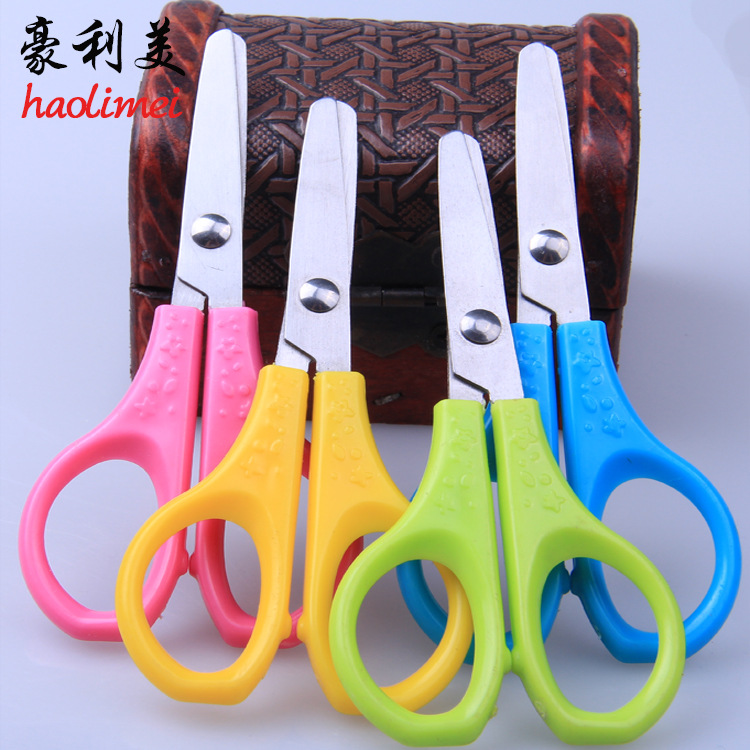 2 Pcs Children's Baby Hand-made DIY Plastic Decorative Craft School Primary School Students Creative Paper-cut Small Scissors