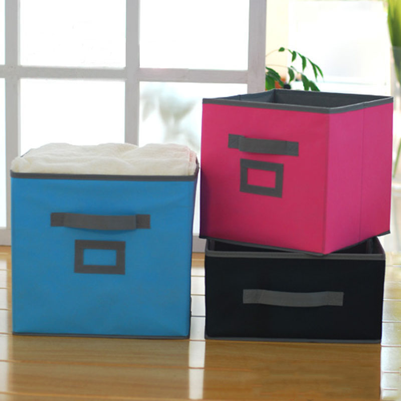 New 2pcs/lot Foldable Storage Cube Bin Non Woven Storage Box for Kids Toys Book Clothes Organizer-in Storage Boxes u0026 Bins from Home u0026 Garden on ... & New 2pcs/lot Foldable Storage Cube Bin Non Woven Storage Box for ...
