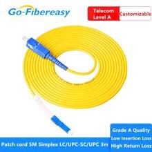Fibra optica Cable de conexión ftth LC/UPC SC/UPC