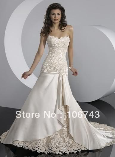 Livraison gratuite 2016 confirmation robes robe africaine nouveau design Applique Dentelle style victorien robes de mariée Robes De Mariée