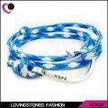 Hope Men's Fish Hook Bracelet ,34 Colors Rope Wrap Anti-silver Nautical Wrap Hook Bracelets On Sale-HOK02