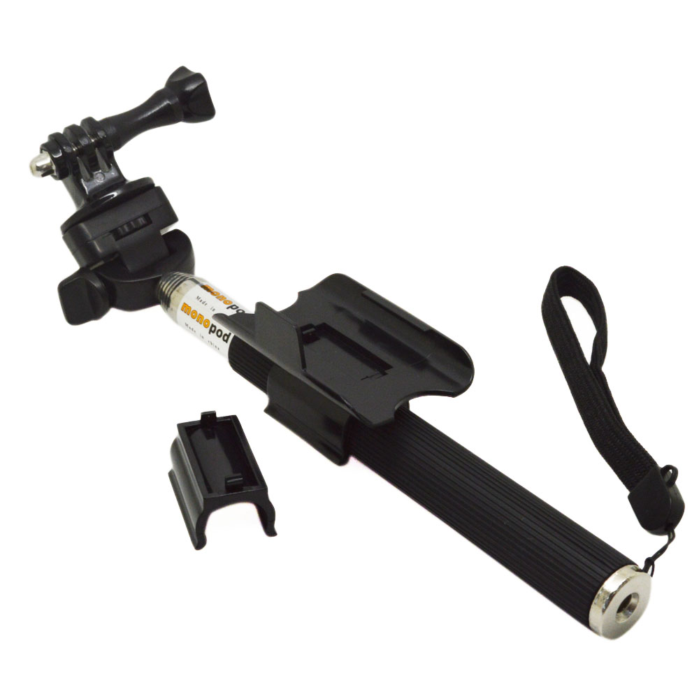 Gopro Accessories Extendable Handheld Stick Telescopic Monopod Mount Adapter Tripod for Hero 3+ 4 SJ4000/5000/6000 xiaomi yi