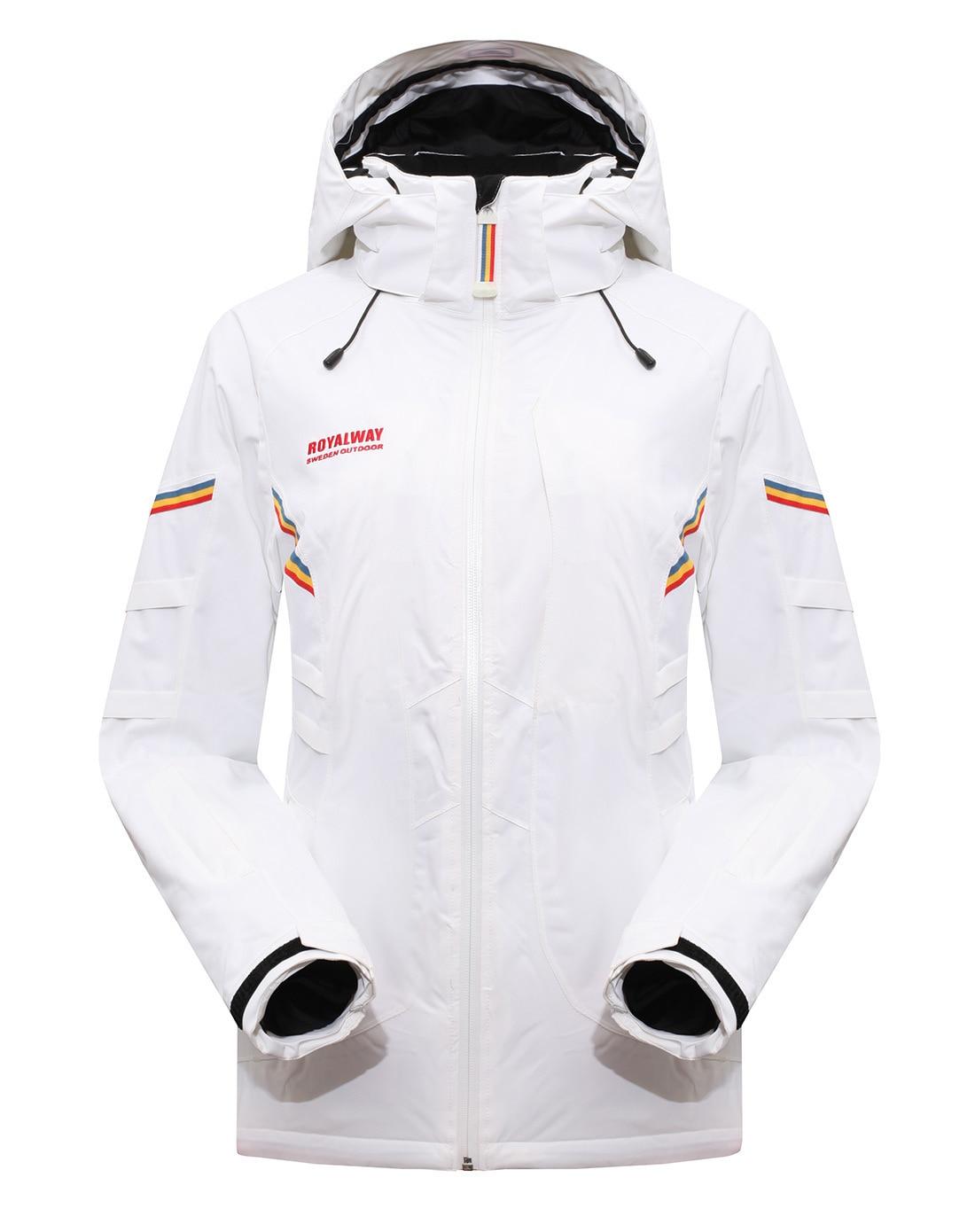 ROYALWAY Women Skiing Ski Jackets Windproof Waterproof Jacket Adjustable Removable Breathable Quality Recco GPSJacket#RFSL4504G