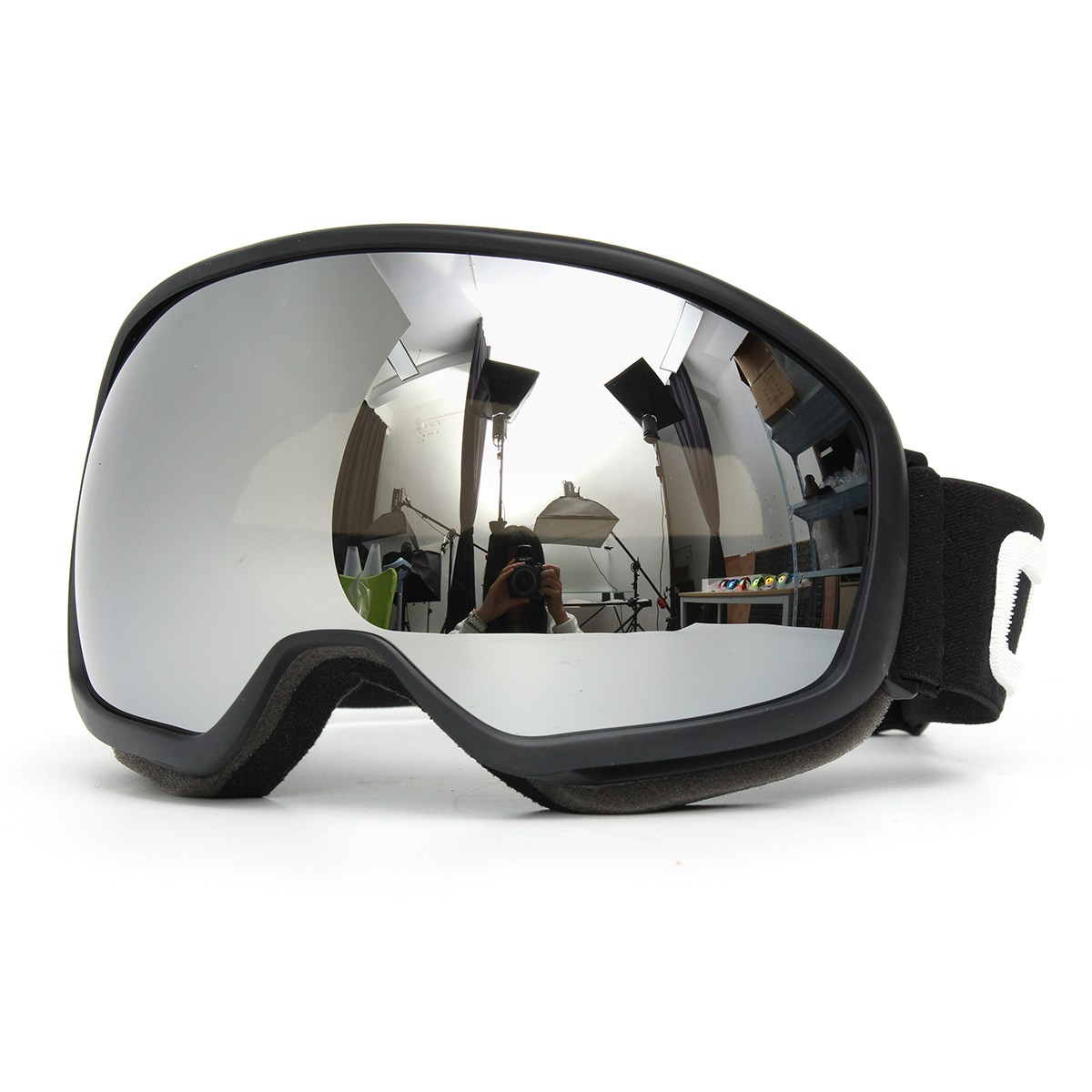 Skiing Eyeglasses Pro Skiing Goggles Double Lens Anti Fog UV Snowboard Snowmobile Snow Sport Black