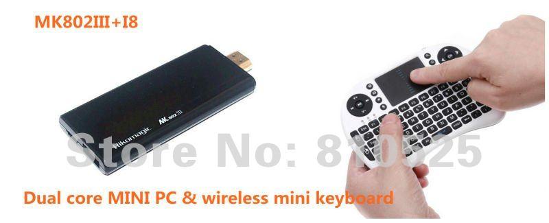 New arrival!!Rikomagic MK802III Dual Core Mini Android 4.2 PC RK3066 1.6Ghz Cortex A9 1GB RAM 8G ROM HDMI [MK802III+i8]