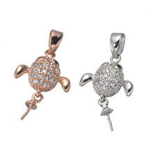 New Arrival Brilliant Micro Pave AAA Austrian Cubic Zirconia Angel Necklace Pendant Charms For Women Necklace DIY CHF385