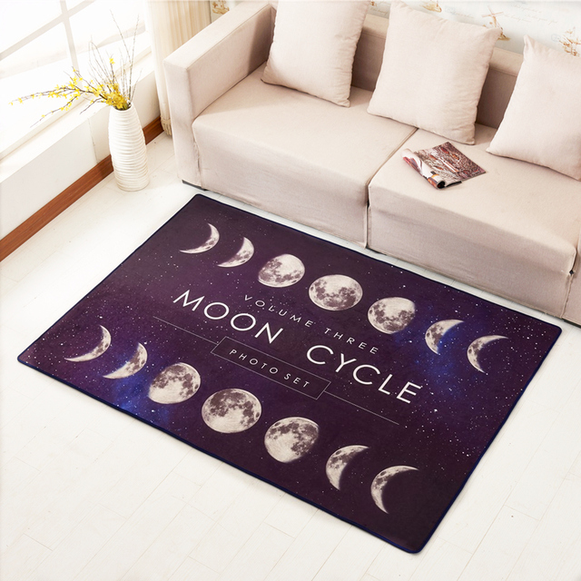 LIU Creative Moon Cycle Sky Modern Minimalist Study Carpet Living Room Sofa  Tea Table Mat Bedroom