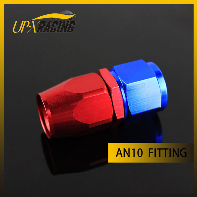 AN10 straight aluminium hose fitting adapter reusable swivel hose end oil cooler fitting