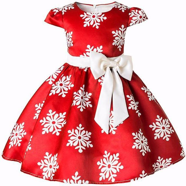 בנות שמלת נסיכת חג המולד תלבושות שלג המפלגה שמלות ילדי ילדים בגדי Infantil ילדה של פרח פס Vestidos בגדים