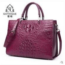 gete 2018 new New imported crocodile leather bag handbag lady big woman fashion women Bag