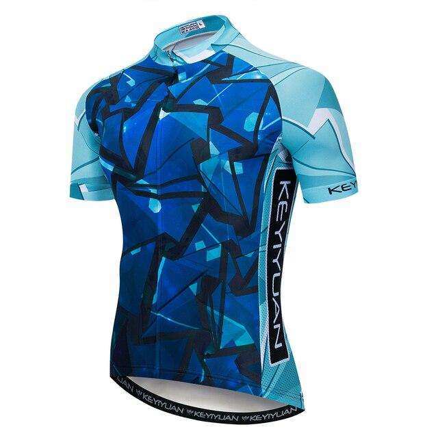 2019 Keyiyuan Cycling Jersey Shirt BLUE Men Cycling Clothing Summer Short  Sleeve mtb Bike Jersey Downhill Bicycle Wear 94bbdac98