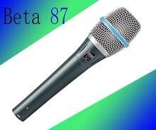 10 pcs BETA87A Condensador Real! Top Qualidade Beta 87A Supercardioid Condensador Vocal Microfone Com Som Incrível ideamedia i!