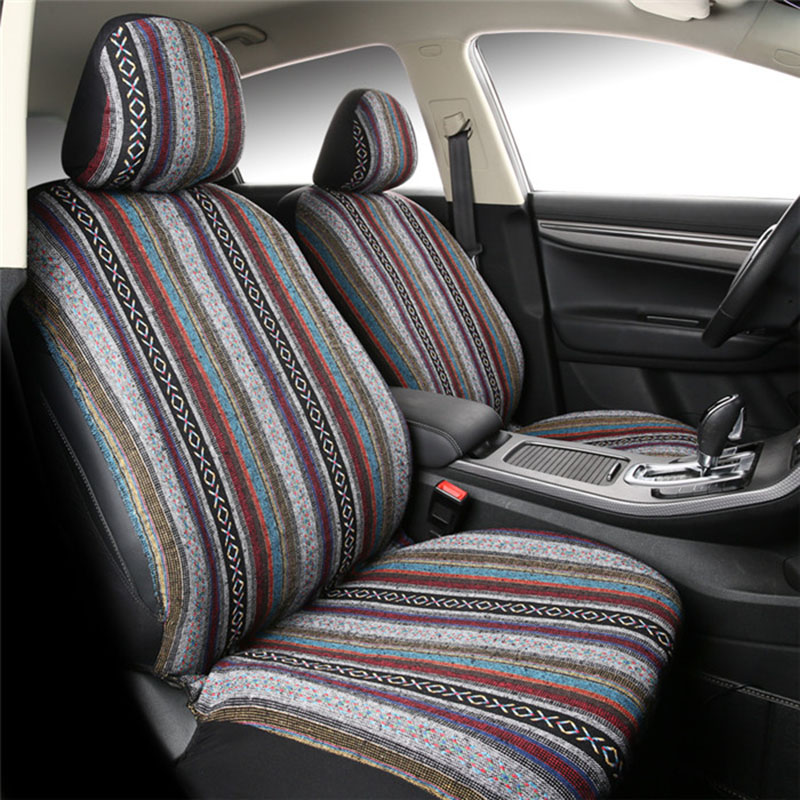 Car Styling Butterfly Embroidered Car Seat Cover Elastic Protection Car Front Chair Protector Cushion Case Universal car styling elastic full seat covers universal fit front back seat protector cushion cover auto chair interior accessories