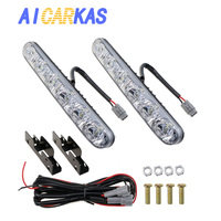 AICARKAS Car Fog Lamp DRL 6 LED High Low Beam 12 Volt LED Auto Daytime Running