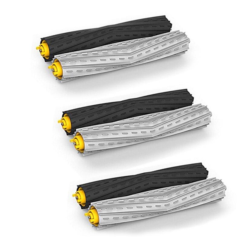3 set/6 pièces brosse extracteur de débris sans enchevêtrement pour iRobot Roomba 800 série 870 880 980 remplacement aspirateur
