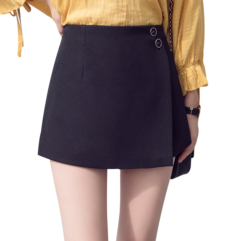 Spring Summer Women Girl Irregular   Shorts   Casual Wide Leg Slim Skirts   Shorts   Bottoms High Waist   Shorts   S-2XL Ladies Work Wear