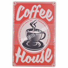 COFFEE HOUSE Plaque Vintage Metal Tin Signs Home Bar Pub Cafe Decorative Plates Wall Stickers Shop Billboard Iron Painting MN25