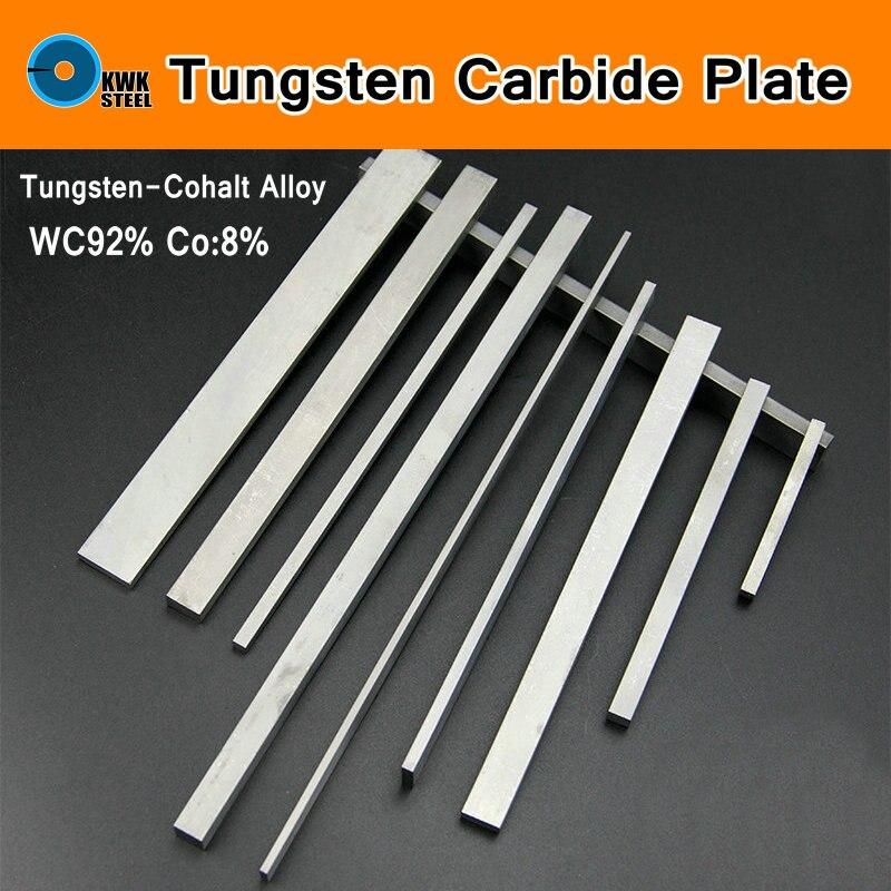 Tungsten Cemente Carbide Plate Tungsten-cohalt Steel WC Co Alloy Plates YL10.2 YG8 ISO K30 DIY Mould CNC Long Sheet Length 330mmTungsten Cemente Carbide Plate Tungsten-cohalt Steel WC Co Alloy Plates YL10.2 YG8 ISO K30 DIY Mould CNC Long Sheet Length 330mm