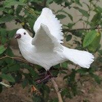 ZILIN décoration de mariage colombe/vivid simulation de vol colombe décor 22*30*18 cm