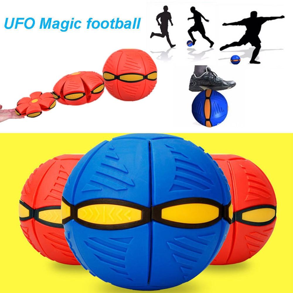 Funny Anti-stress Ball For Children Boys Girl Adult UFO Deformation Ball Soccer Magic Flying Football Flat Throw Ball Toy Game