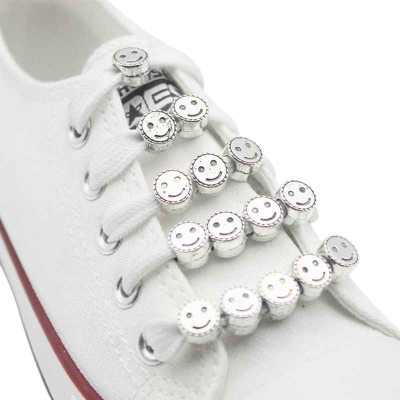 12pcs Shoelace Buckle DIY Shoestrings Smile Face Sports Shoe Decoration Clip Creative Fashion Shoelaces Accessories