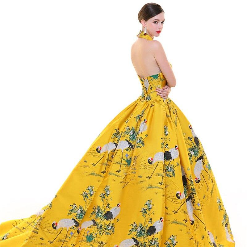 CEEWHY dos ouvert turquie robe de soirée musulmane arabie saoudite imprimer Floral robe formelle longues robes de soirée Vestido de Festa Longo - 6