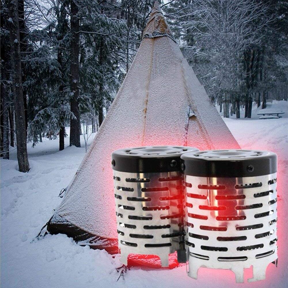 Jeebel Mini Chauffe-Nouveau Spot Infrarouge Lointain Voyage En Plein Air Matériel de Camping Chaud Tente De Pêche Poêle De Chauffage Cap