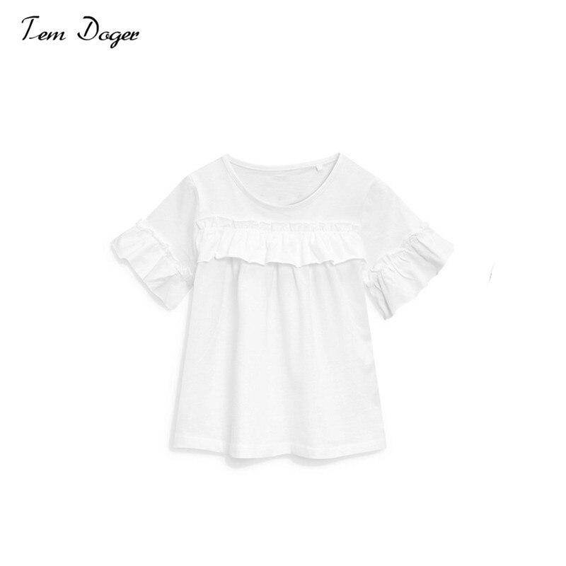 Tem Doger Summer Children Clothing Set Toddler Kids Girl Off Shoulder Tops+ Jeans Denim Pants New Bebes Baby Girls Clothes