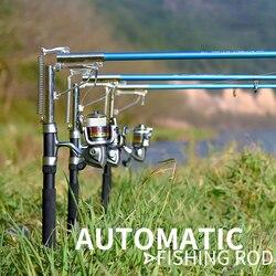 Ulepszony FRP Self-podnoszenia Sea Fishing Rod 2.1m 2.4m 2.7m Spinning teleskopowy automatyczny wędka połowów na świeżym powietrzu akcesoria