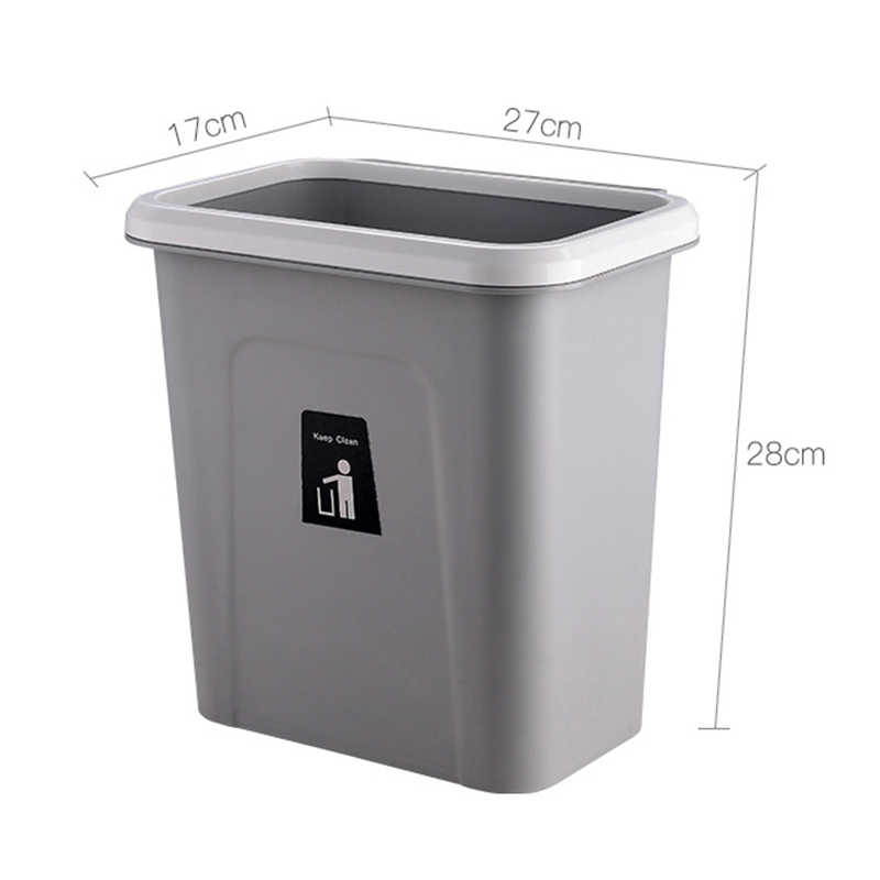 ... Wall Mounted Waste Bin Hanging Bathroom Trash Can Kitchen Office Home  Storage Box Dustbin Container Garbage