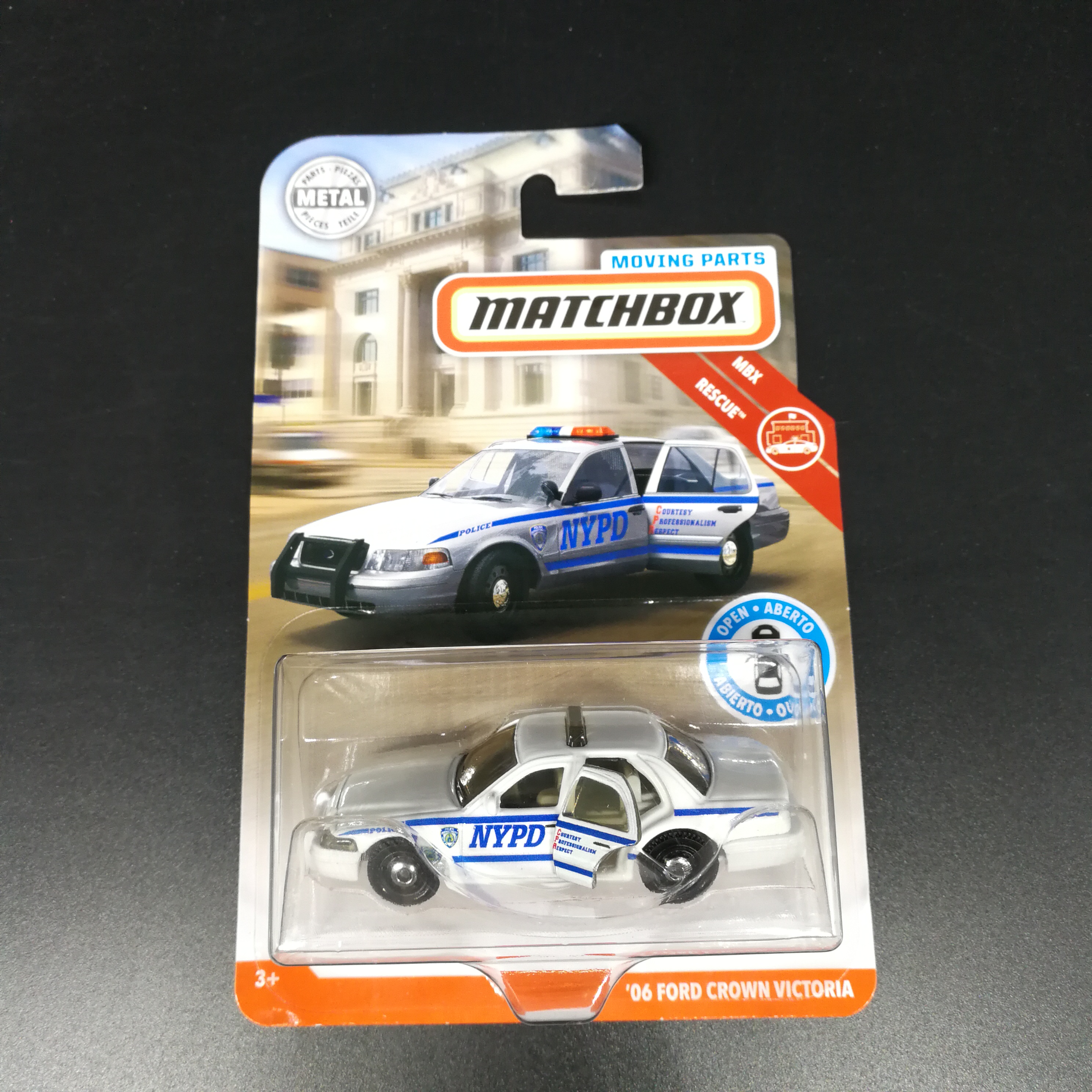 2019 Matchbox Car 06 FORD CROWN VICTORIA TESLA MODEL X Door Openable Metal Diecast Model Car Collector Edition Toys