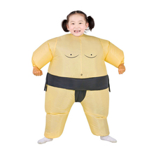 Child Inflatable Sumo Suit Cosplay Costumes Kids Unisex Boys Girls Wrestler Fancy Dress Outfit Role Play Halloween Purim Costume(China)