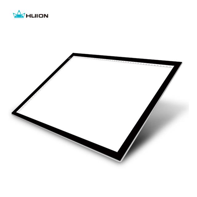 Caliente venta nueva Huion luz LED A3 Pad paneles de acrílico profesional del tatuaje almohadilla caricatura cajas de luz LED de rastreo tableros