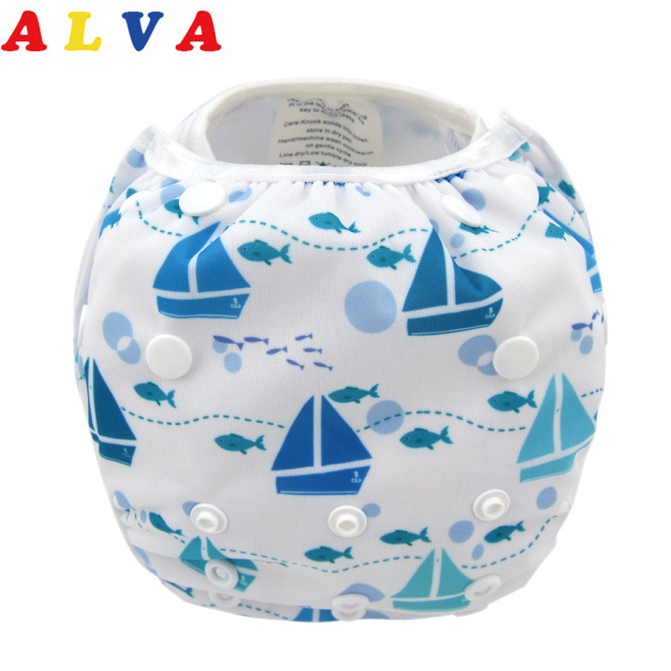 Alvababy 1pc Popular Adjustable Swimming Nappy SW05-in