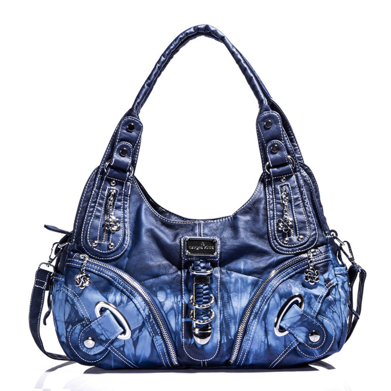 Fashion Tie Dyed Women hobo shoulder crossbody bag female casual large totes high quality Washed PU