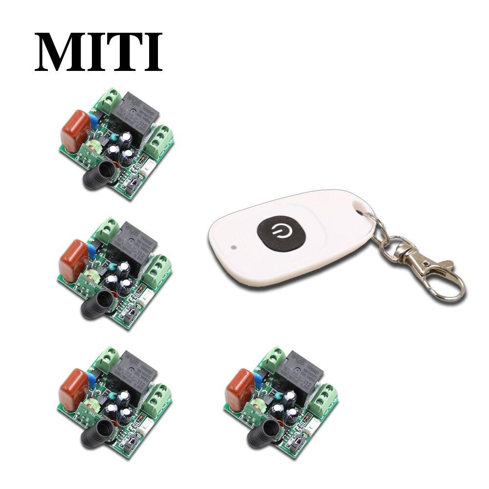 Miti ac220v 1ch rf sistema de interruptor de control remoto inalámbrico de mini