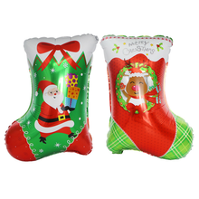 2019 New Christmas Stockings Aluminum Foil Balloon for Festival Party Decorated Tree