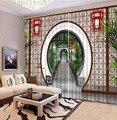 3D занавес из полиэстера  китайский декор для спальни  гостиной