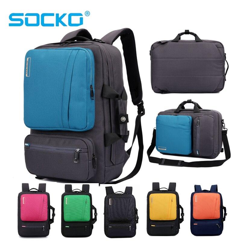 купить 17 inch Laptop Backpack 15 15.4 15.6 Multifunction bag Briefcase shoulder bag handbag school Bag For Macbook Pro man women по цене 2032.45 рублей