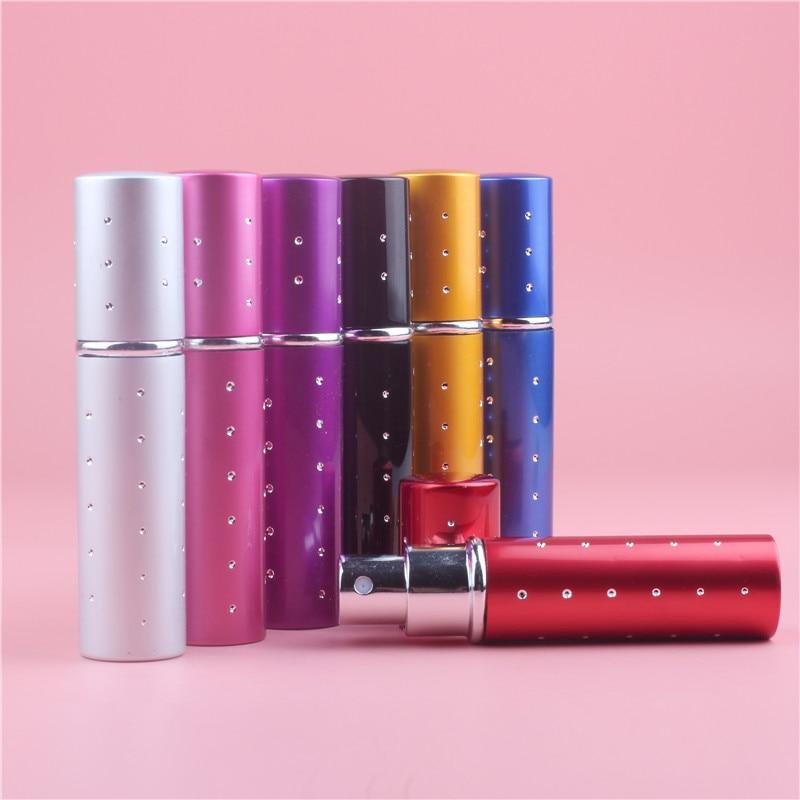 10p Mini 10ml přenosné mini parfémy láhev Vaporizador s balíčkem 7barevný parfém láhve pro sprej Scent Pump Case Hot Prodej