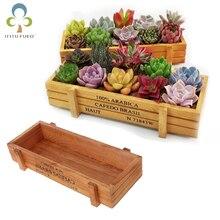 Maceta para planta de jardín, cajas de madera suculentas Vintage decorativas, cajones, mesa rectangular, maceta para flores, dispositivo de jardinería WYQ