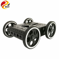 DOIT C3 4WD Smart Robot Car With High Hardess Of Steel 4pcs DC 12V Motor 95mm