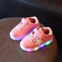 2018 Autumn New Lightweight Children Shoes For Boys Girls Luminous LED Light Shoes Children's Shoes Sports Glowing Sneakers(China)