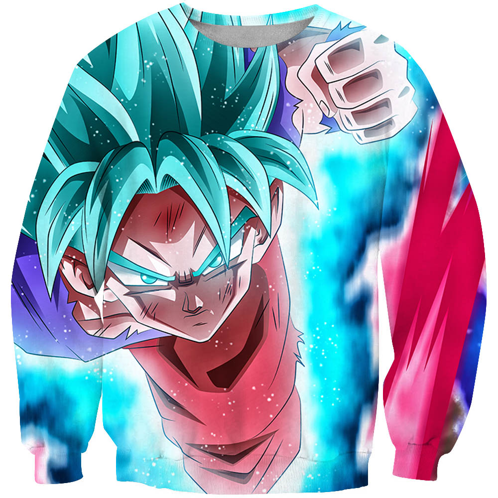Japan Anime Dragon Ball Z Sweatshirt Men Women Hipster 3D Long Sleeve Harajuku Outerwear Lovely Goku print Crewneck Pullovers