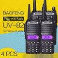 (4 pcs) baofeng uv-82 dual-band 136-174/400-520 mhz fm ham rádio em dois sentidos, transceptor, walkietalkie
