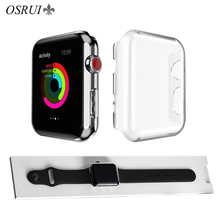 цена на Protective case for Apple Watch band Case 42mm 38mm PC Frame silicone Protective Transparent cover iwatch 3 2 watch accessories