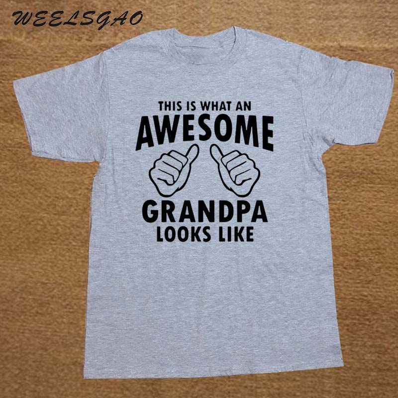 New This Is What An Awesome Grandpa Looks Like Gift For Grandpa Funny   T     SHIRT   Men Cotton Casual College Printed   T  -  shirt   tshirt
